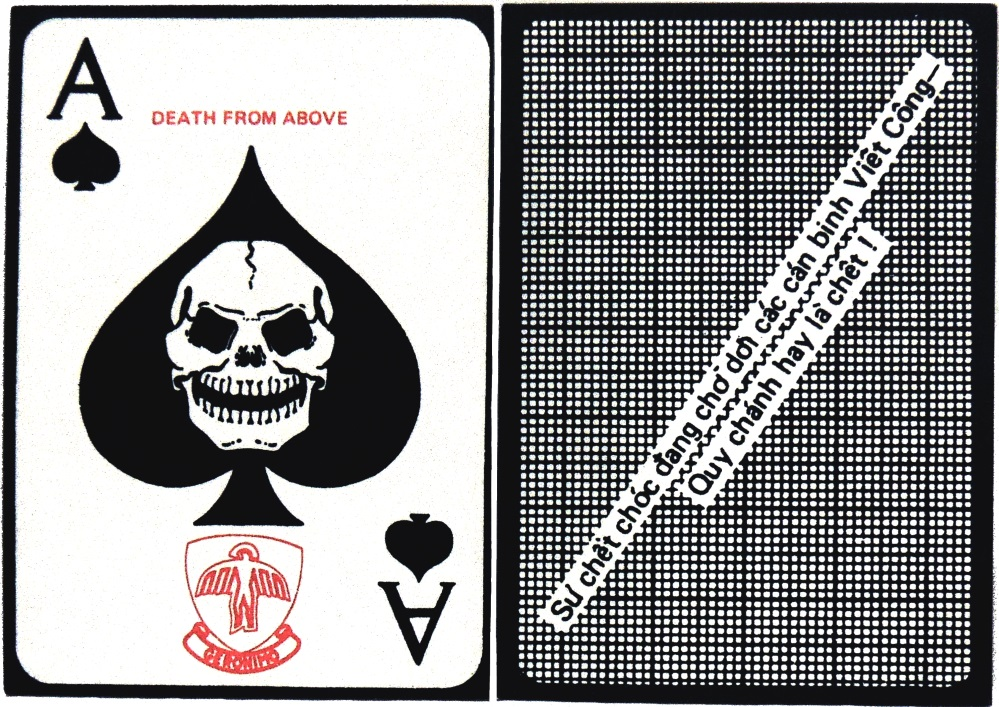 spade death card  Details about Vietnam War Ace of Spades Death Card GERONIMO