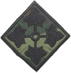 4th Infantry Division, patch, cut edge, subdued, ERDL