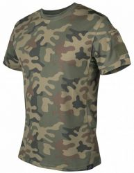 TACTICAL T-Shirt TopCool, PL Woodland