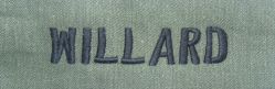 WILLARD name tape