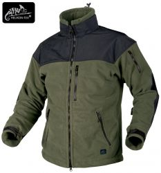 Bluza CLASSIC ARMY, Fleece Windblocker, olive green/czarny