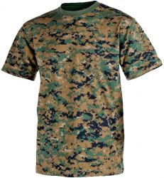 T-Shirt, USMC digital woodland